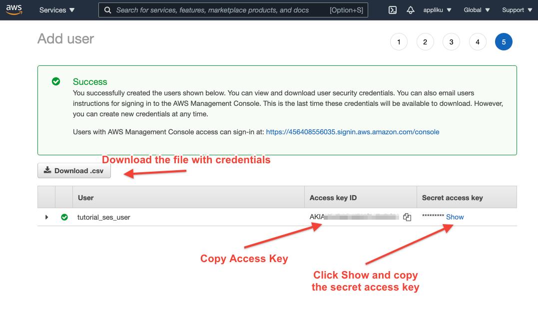 Copy credentials into your Django project environment variables