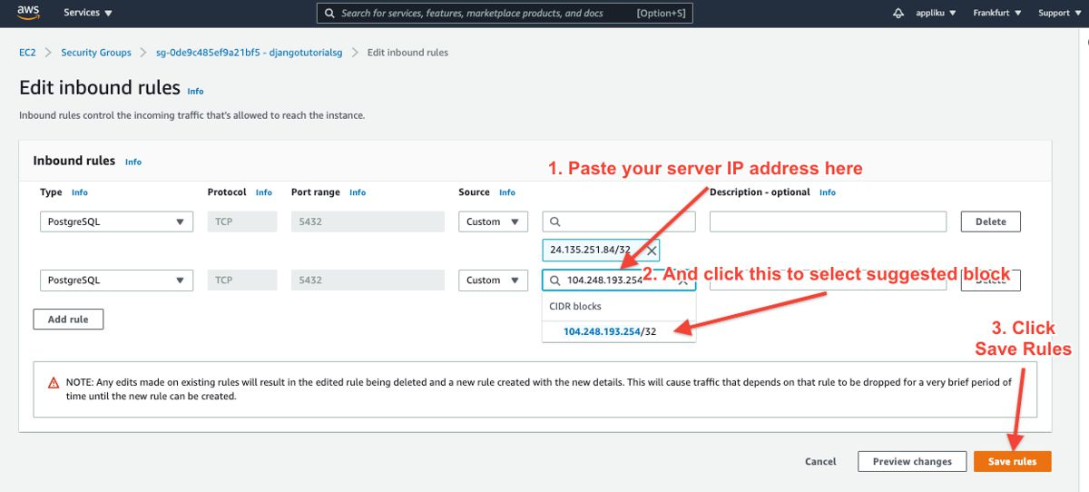 Add inbound rule to security group