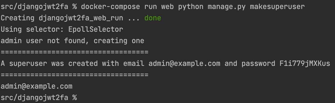 Django Management Command Make Super User with random password non-interactive