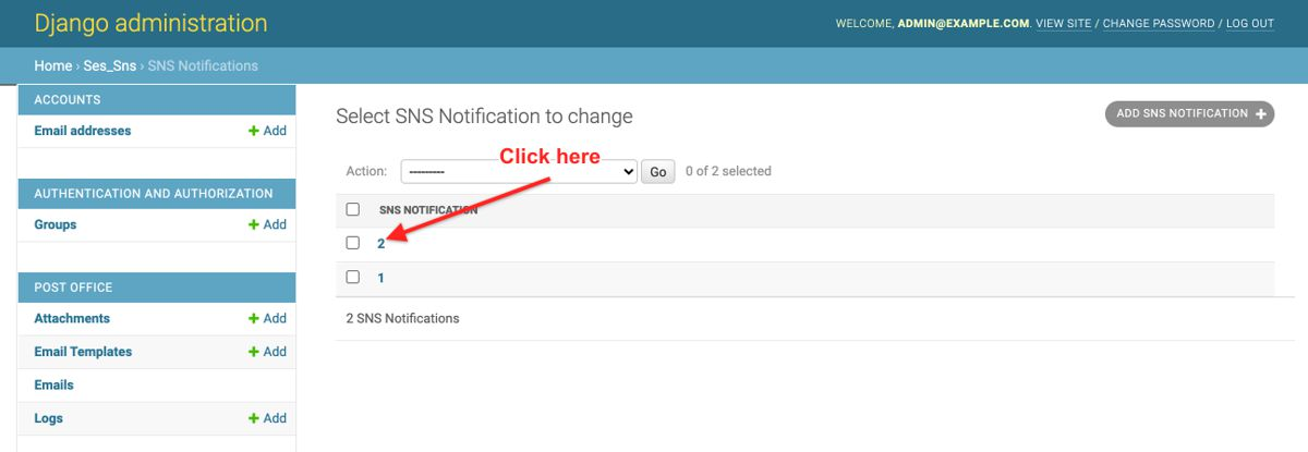 SNS Notification to confirm subscription to SNS Topic Complaints