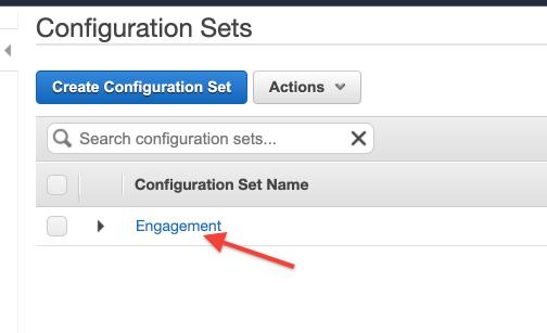 AWS SES Configuration Sets Engagement