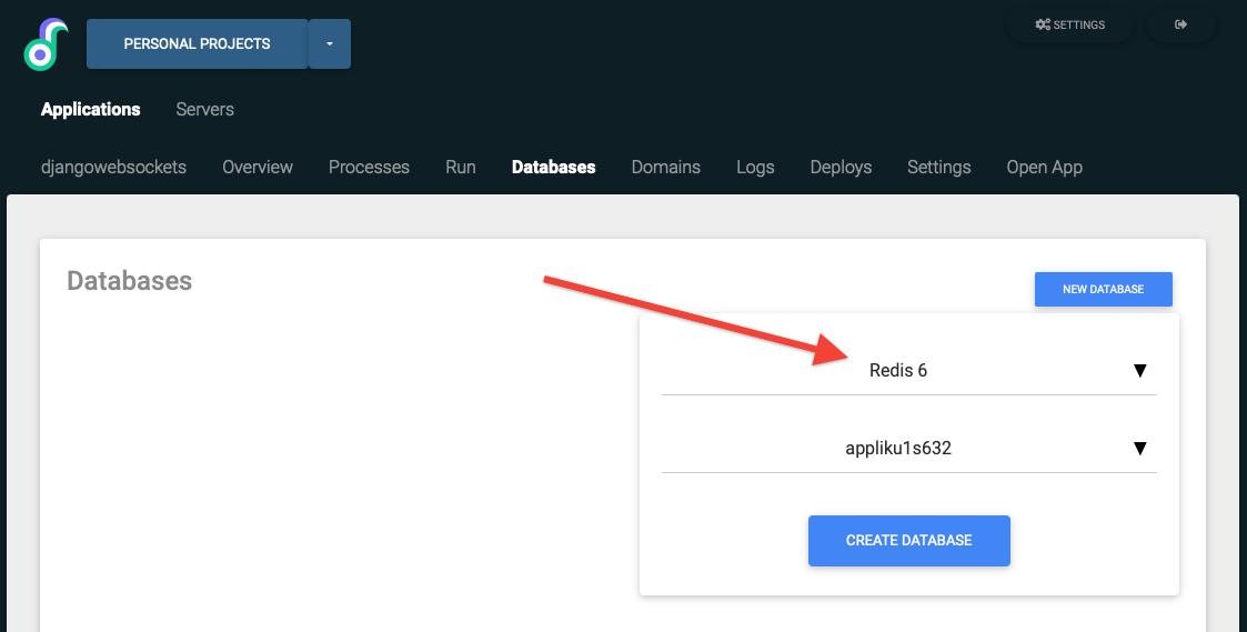 Create a Redis server for django application