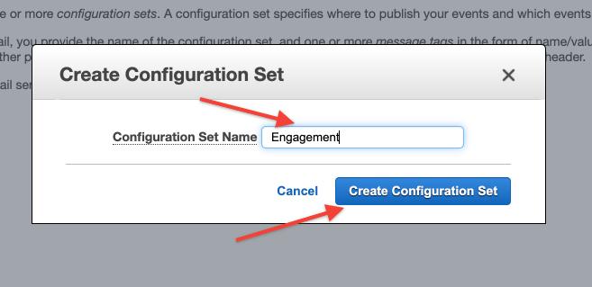 """Create SES Configuration Set """"Engagement"""""""