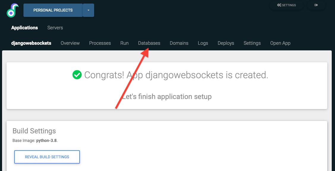 Databases for django application